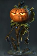 Preview iPhone wallpaper Pumpkin monster, Halloween