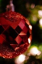 Красный рождественский бал, украшение, боке