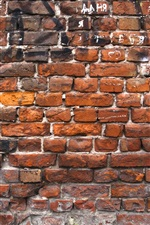 Preview iPhone wallpaper Red bricks wall