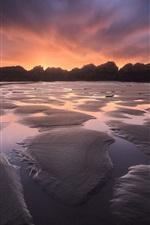 Preview iPhone wallpaper Rocks, beach, sky, sunset
