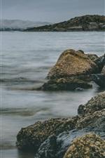 Vorschau des iPhone Hintergrundbilder Felsen, Meer, Wasser