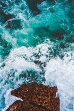 Preview iPhone wallpaper Sea, waves, foam, rocks