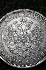Preview iPhone wallpaper Silver coin, currency, Ruble, Russian