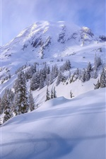 Preview iPhone wallpaper Snow, mountain, sky, winter