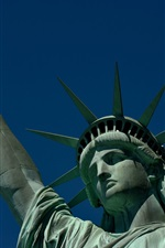 Preview iPhone wallpaper Statue of Liberty, New York, USA, crown, torch, blue sky