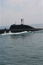 Preview iPhone wallpaper Submarine, sea