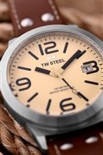 TW relógio de aço, corda