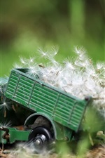 Preview iPhone wallpaper Toy truck, dandelions