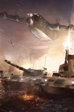 War Thunder, hot game, tanks, bomber