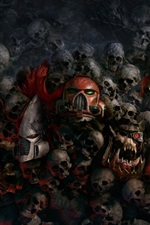 Preview iPhone wallpaper Warhammer 40000: Dawn of War, skulls, games