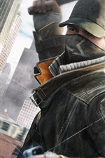 Preview iPhone wallpaper Watch Dogs, stick, cap