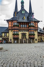 Preview iPhone wallpaper Wernigerode, Germany, city, houses