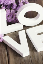 Preview iPhone wallpaper White love, flowers