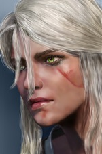 Preview iPhone wallpaper Witcher 3: Wild Hunt, Cirilla, white hair girl