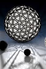 Preview iPhone wallpaper 3D balls, black and white