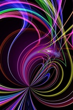 Preview iPhone wallpaper Abstract colorful curves