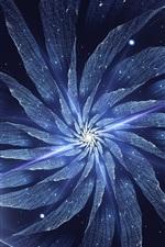 Abstract flower, light, fractal artworks