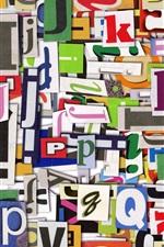 Preview iPhone wallpaper Alphabet, char