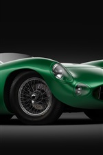 Preview iPhone wallpaper Aston Martin DBR1 green sports car