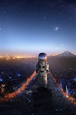 Preview iPhone wallpaper Astronaut, baby, space, creative