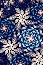 Preview iPhone wallpaper Beautiful flowers, abstract fractals patterns