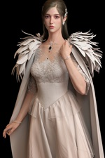 Preview iPhone wallpaper Beautiful princess, angel, wings, black background