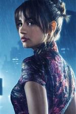 Vorschau des iPhone Hintergrundbilder Blade Runner 2049, schönes Mädchen, Regen