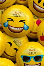 Preview iPhone wallpaper Candy, sweet, different emoticons