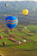 Preview iPhone wallpaper Cappadocia, Goreme National Park, Turkey, colorful hot air balloons
