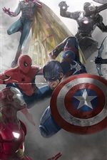 Preview iPhone wallpaper Captain America: Civil War, art picture, Marvel comics