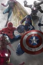 iPhone обои Капитан Америка: гражданская война, художественная фотография, комиксы Marvel
