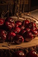 Preview iPhone wallpaper Cherries, book
