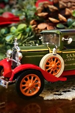 Preview iPhone wallpaper Christmas decoration, toy truck model