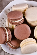 Preview iPhone wallpaper Cookies, macaron, coffee, cups