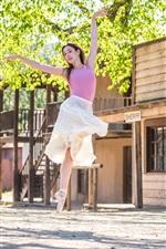 iPhone壁紙のプレビュー ダンス・ガール、夏、木