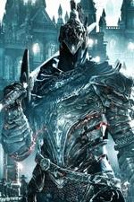 Preview iPhone wallpaper Dark Souls III, warrior, armor, sword