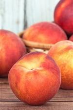 iPhone fondos de pantalla Melocotón delicioso, fruta