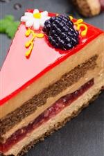 Preview iPhone wallpaper Dessert, cake, cream, decoration