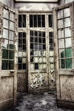 Preview iPhone wallpaper Door, interior, room, ruins