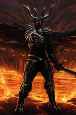 Preview iPhone wallpaper Evil, devil, armor, art drawing