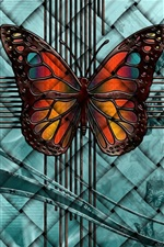Preview iPhone wallpaper Fantasy, butterfly, creative picture