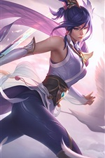 Preview iPhone wallpaper Fiora, beautiful girl, bird, League of Legends