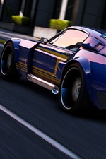 Preview iPhone wallpaper GTA 5, sport car speed