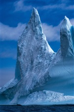 Preview iPhone wallpaper Greenland, iceberg, sea, ice