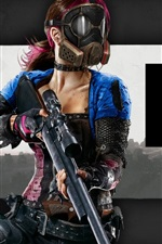 Preview iPhone wallpaper H1Z1 game, girl, mask, weapon