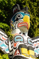 Preview iPhone wallpaper Indian, totem pole