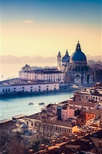 Preview iPhone wallpaper Italy, Venice, city, river, water, buildings