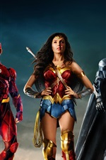 Preview iPhone wallpaper Justice League, DC Comics movie, superheroes