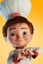 Preview iPhone wallpaper Little cook, 3D picture