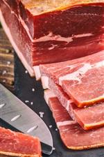 iPhone fondos de pantalla Carne, cuchillo, corte